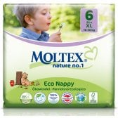 Moltex Nature Disposable Nappies - XL - Size 6 - Pack of 22