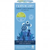 Natracare Organic Cotton Tampons with Applicator - Regular - Pack of 16