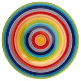 Hand Painted Rainbow Plate - 26cm