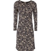 Nomads Organic Cotton Side Ruched Floral Dress - Navy