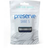 Preserve Shave 5 Replacement Blades - Pack of 4