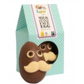 Cocoa Loco Mr Moustache Face Milk Chocolate Easter Egg - 225g
