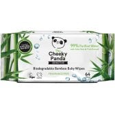 The Cheeky Panda Biodegradable Bamboo Baby Wipes - 64 Wipes