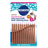 Ecozone Enzymatic Citrus Drain Cleaning Sticks - Pack of 12