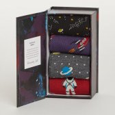 Thought Men's Galactic Bamboo Socks Gift Box
