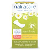 Natracare Organic Cotton Curved Panty Liners - Pack of 30
