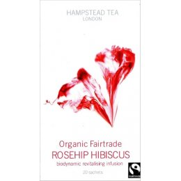 Hampstead Tea Fairtrade Organic Rosehip Hibiscus Infusion - 20 Bags