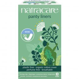 Natracare Organic Cotton Panty Liners - Mini  - Pack of 30