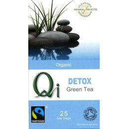 Qi Organic Fairtrade Detox Green Tea - 25 Bags