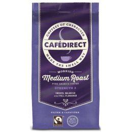 Cafedirect Medium Roast  Fresh Ground Fairtrade Coffee - 227g