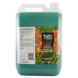 Faith In Nature Shower Gel and Bath Foam - Aloe Vera & Ylang Ylang - 5 litres