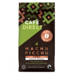 Cafedirect Machu Picchu Organic Gourmet Coffee Beans - 227g