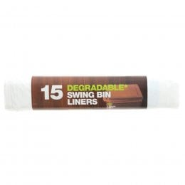 d2w Degradable Swing Bin Liners - 50L - Roll of 15