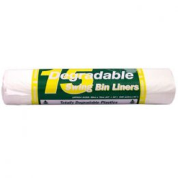 d2w Degradable Swing Bin Liners - 50 litre - Pack of 15