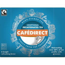 Cafedirect Everyday Decaffeinated Tea - 80 Bags