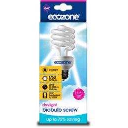 Ecozone Screw Cap Daylight Biobulb - 25 Watt - 100W Equivalent