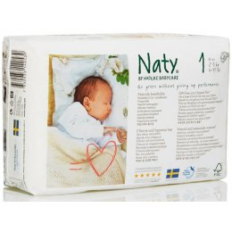 Naty by Nature Babycare Disposable Nappies - Newborn - Size 1 - Pack of 26