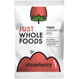 Just Wholefoods Jelly Crystals - Strawberry - 85g