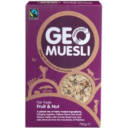 Traidcraft Fair Trade Fruit and Nut GeoMuesli - 750g