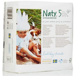 Naty Eco Disposable Nappies - Junior - Size 5 - Pack of 23