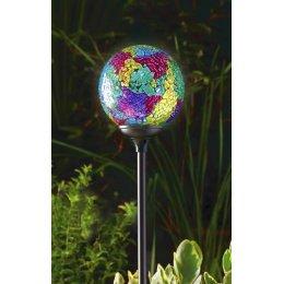 Solar Powered Garden Globe Light - Murano Terra