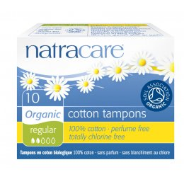 Natracare Organic Cotton Tampons - Regular - Pack of 10