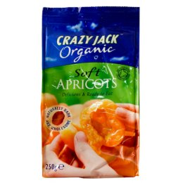 Crazy Jack's Organic Dried Apricots - 250g
