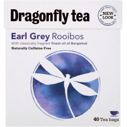 Dragonfly Rooibos Earl Grey Tea - Naturally Caffeine Free - 40 Bags
