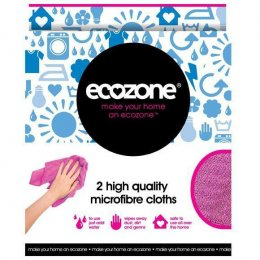 Ecozone Microfibre Cloths - Pack of 2