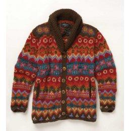 Multi-Coloured Grandad Style Cardigan