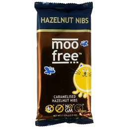 Moo Free Dairy Free Caramelised Hazelnut Chocolate Bar - 100g