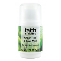 Faith In Nature Roll-on Deodorant - Aloe Vera & Green Tea - 50ml