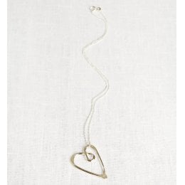 La Jewellery Recycled Silver Love Necklace