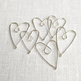 La Jewellery Recycled Silver Heart Page Savers - Set ot 6