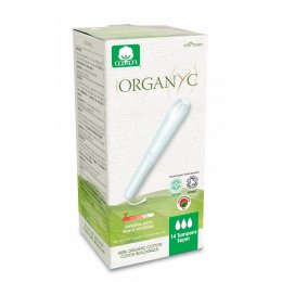 Organyc Super Applicator Tampons - Pack of 14