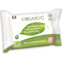 Organyc Intimate Wet Wipes - Pack of 20