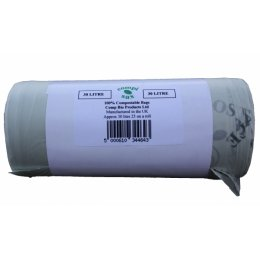 Compostable Bin Liners - 30 litre - Pack of 25