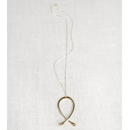 La Jewellery Recycled Silver Large Kiss Me Kate Necklace