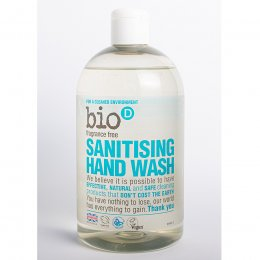 Bio D Sanitising Hand Wash - Fragrance Free - 500ml