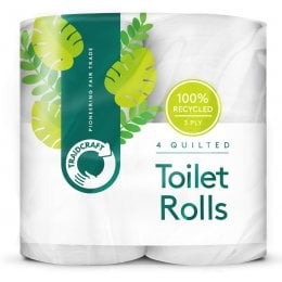 Traidcraft Recycled Toilet Roll - Pack of 4