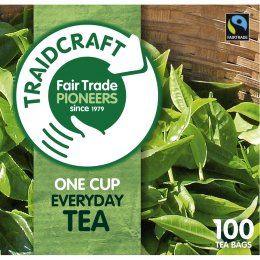 Traidcraft Fair Trade Everyday One Cup Tea - 100 Bags