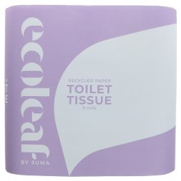 Ecoleaf Recycled Paper Toilet Tissue - Pack of 9