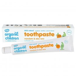 Green People Organic Childrens Fluoride Free Toothpaste - Mandarin & Aloe Vera - 50ml