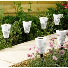 Solar Powered Silhouette Butterfly Stake Lights - Pack of 6