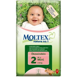 Moltex Nature Disposable Nappies - Mini - Size 2 - Pack of 44