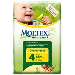 Moltex Nature Disposable Nappies - Maxi - Size 4 - 37 per pack