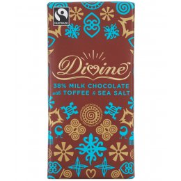 Divine Milk Chocolate with Toffee & Sea Salt - 100g