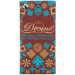 Divine Milk Chocolate with Toffee & Sea Salt - 100g test