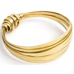 Just Trade Brass Ribbon Bangle