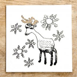 Reindeer Christmas Card test
